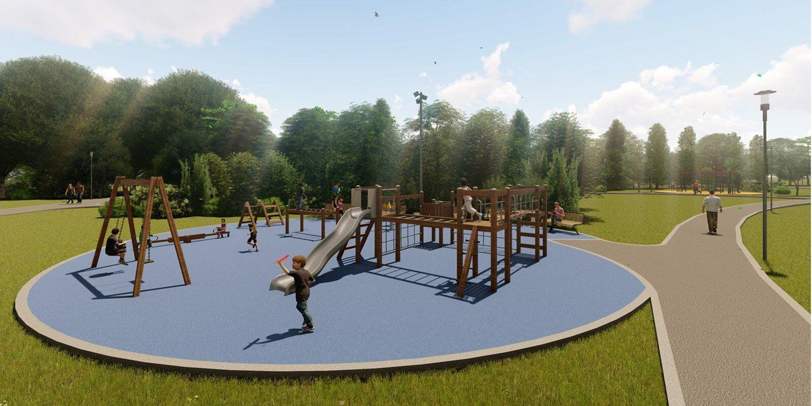 В парке Дружбы рядом с Ховрино обустроили 5 детских площадок